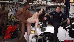 Cop watching BBCs fucking his wife McKenzie Lee