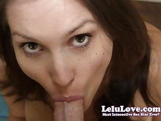 Lelu Love-Closeup POV Blowjob Swallow