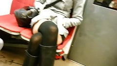 candid sexy legs in subway 520