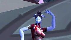 Draenei Female sexy dance (World of Warcraft)
