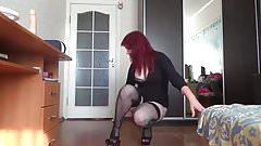 Redhead Pissing And Masturbating