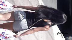 princesinha com pijaminha na rua