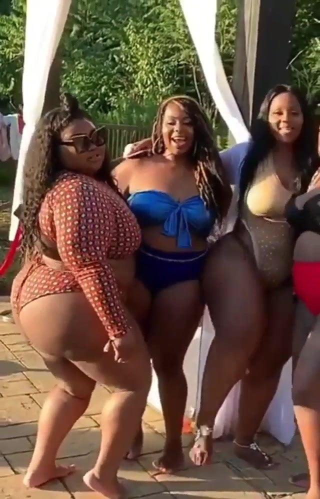 Black BBW's in Bikini