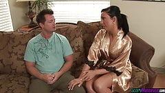 Glam massage babe enjoys erotic soapy massage