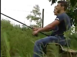 Fishing strip - Pale pretty redhead goes fishing for dick