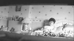 Mom voyeured. Hidden cam in bedroom caught her masturbating