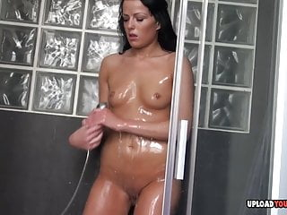 Astonishing Babe Shoves A Dildo Into Her Slit
