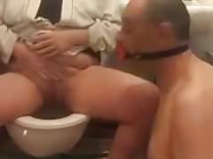 Pee piss in my british slaves mouth