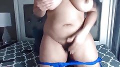 Bootylicious black Leyla with big tits squirting wet vagina