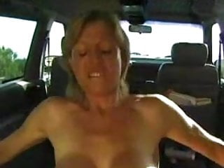 Colette Sigma mature blonde fist anal in car troia takes hard cock in the ass all the way tits