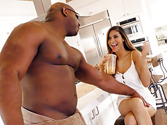 Busty latina nina north takes a huge black dick Thumbnail