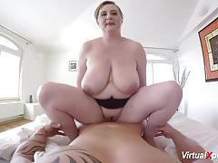 busty bbw mature loves wild pov sex