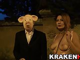 Krakenhot Exclusive video with a redhead in a outdoor scene