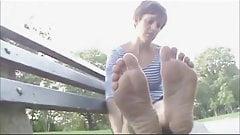 Beautiful soles, cute Girl in park