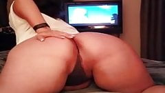 Big Butt Woman Showing Off