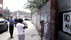 Black Girl Naked in Public Photo Shoot