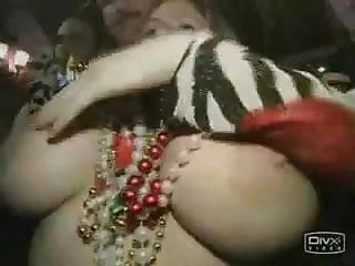 Big Boob Girl Flashing on Mardi Gras