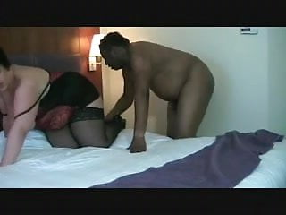 Double Dee fucked by a big black cock and swallowed