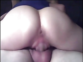 Mature Woman Gets Wet While Riding Husband's Cock