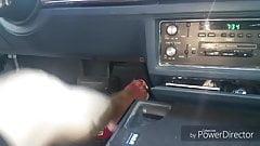 Granny feet in car..