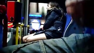 Flasher cums as girls get off bus.flv