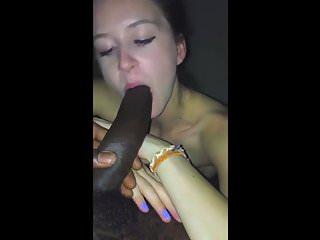 TEEN SUCKS MASSIVE BLACK COCK