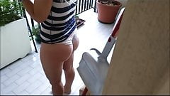 Brazilian mature topples in the kitchen 2