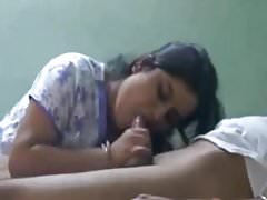 NEIGHBOUR INDIAN WIFE LOVES TO TASTE CUM BJ