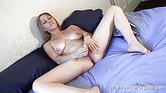 Femorg Babes Panty Wet Spot and Pulsating Orgasm's Thumb