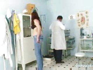 Physician doctor masturbates exam - Bushy pussy wife karin real gyno clinic exam