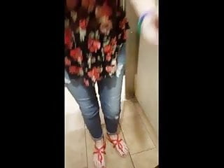 Teen Lesbians in Public Bathroom