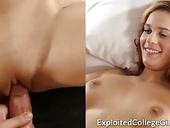 Big Tit Coed Fucked and Facialed
