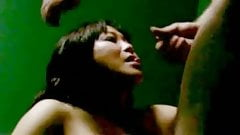 Asian massage parlor girl takes a cumshot in mouth