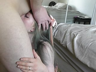 19 - princess in bow fucked in miniskirt creampied older man
