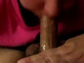 bbw blond wife give hubby blowjob swallows cum