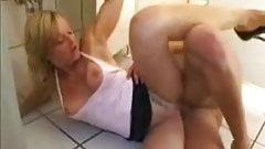 german milf fucking with a stranger on the ladies  toilet