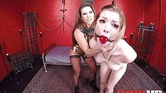 Lesbian Mistress Presents Her Slave Girl for You