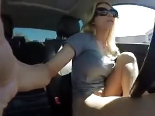 Uber driver getting her self squirts everywhere