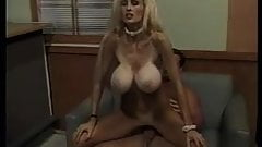 Horny blonde with a smoking hot big rack banged by a lucky guy