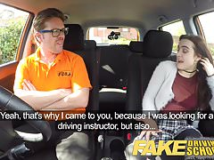 Fake Driving School New learners tight pussy stretched