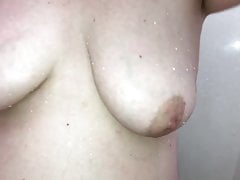 Tits in the shower.