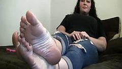 Check out Her size 12 soles!