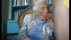 Grandmother sucking grandsons cock