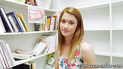 Pretty teenie POV pounded at a library