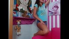 teen Brunette Doll Striptease