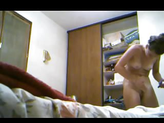 Mexican nude clips - Beautiful and nude in the bedroom hidden cam clip