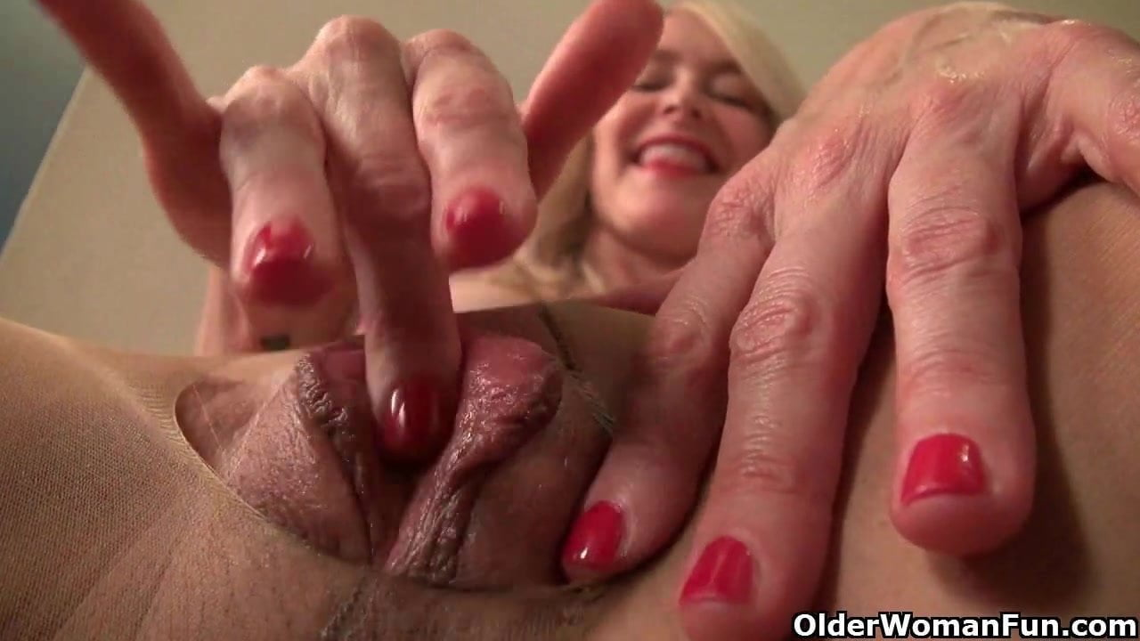 Pretty old spunker wishes you were fucking her juicy pussy 9
