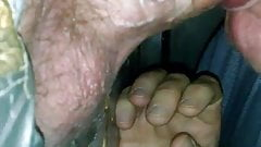 Sucking a fat dick at the glory hole