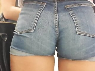 Big Sexy Ass Jeans Shorts  Hd