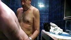 Hot Daddie in Sauna